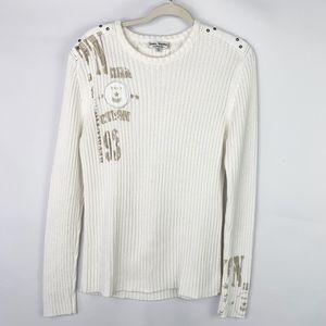 Terra Nostra Collection Crewneck Ribbed Sweater